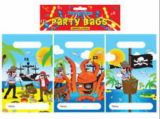 12 Pirate Empty Party Bags - Toy Loot Gift Wedding/Kids Plastic
