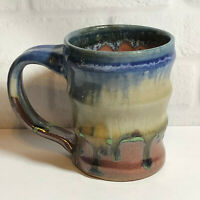 Studio Art Pottery Stoneware Coffee Mug Cup Artisan Signed