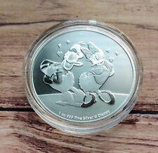 2021 Disney Donald & Daisy Duck 1oz Bullion Coin in Capsule Niue