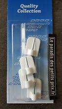 crochet adhésif blanc de tringle à rideaux x 4 , 4 crochets de tringle à rideaux