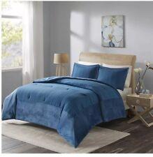 Madison Park Mini Comforter Set, King, Blue, Down Alternative With 2 Shams New