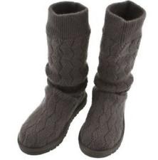 Ugg ® Australia 'clásico gris tejido de arranque del marqués UK 5.5 EU 38 usado dos veces en interiores