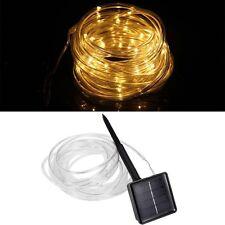 23ft 50LED Solar Power Rope Tube Light Strip Waterproof Outdoor Garden WWhite GA