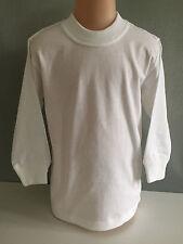 BNWT Boys/Girls Sz 14 LW Reid Pure Cotton White Long Sleeve School/Sports Top