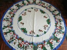 CHRISTMAS  TABLE CLOTH SNOWMAN