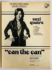 SUZI QUATRO 1973 original POSTER ADVERT CAN THE CAN Bell Records