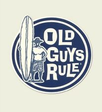 OLD GUYS RULE SURFER DUDE LONGBOARD SURFBOARDS FIN SURF SURFING  BEACH STICKER