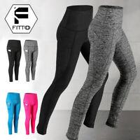 Womens High Waist Yoga Pants With Pocket Leggings Fitness Athletic Sportwear USA