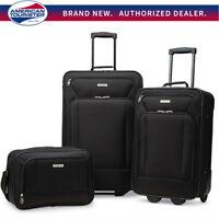 "American Tourister Fieldbrook XLT 3 Piece Luggage Set (21"" & 25"") - Choose Color"