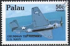 WWII US Navy GRUMMAN TBF AVENGER Aircraft Airplane Mint Stamp (1992 PALAU)