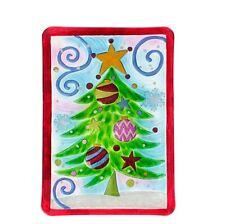 """15"""" TREE PLATTER 3424262 Raz Imports Christmas NEW Food & Dishwasher Safe GLASS"""