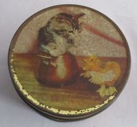 VINTAGE USED LOVELY KITTEN  COLLECTABLE TIN - EDWARD SHARP