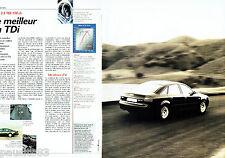 PUBLICITE ADVERTISING 125  1998  AUDI  A6 V6 2.5 TDi 150 cv ( 2pag