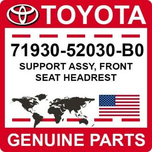 71930-52030-B0 Toyota OEM Genuine SUPPORT ASSY, FRONT SEAT HEADREST