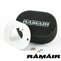 RAMAIR Carb Air Filters With Baseplate Weber 32/34 DMTR 40mm Bolt On