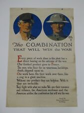 World War I Vintage Patriotism Poster