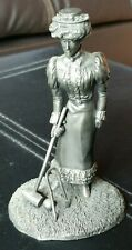 """Franklin Mint Pewter Figurine """"The Gibson Girl"""""""