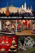 MUSEUM SOUVENIR FRIDGE MAGNET - KREMLIN ARMOURY MOSCOW & IMPERIAL TREASURES