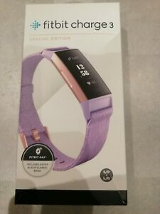 Fitbit charge 3 fitness watch - rose gold