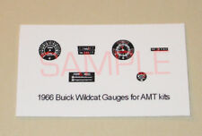 1966 BUICK WILDCAT GAUGE FACES for 1/25 scale AMT KITS