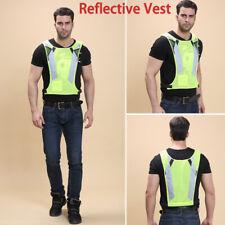 Yellow Hi Vis High Viz Visibility Vest Waistcoat Safety Sports Running