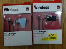Just Wireless High Speed Car Charger for LG, black LOT OF 2
