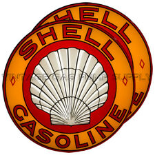 "Pair of Roxana Shell 15"" Gas Pump Lenses (GL309)"