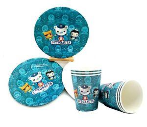 Kids Octonauts Paper Plates & Cups Party Supplies Decoration