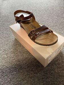 Papillio Birkenstock Lana Brown Wedge Sandals