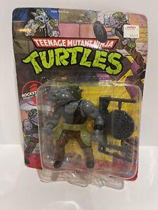 TMNT Teenage Mutant Ninja Turtles Rocksteady 1990 Vintage Action Figure NEW