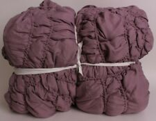 Pottery Barn Teen Trellis recycled Microfiber FQ quilt full queen purple *sample