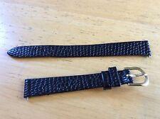 NEW SPEIDEL WATCH BAND BRACELET - Lizard Grain 12mm Black 468R