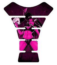 Devil 4 Aces Dark Pink Motorcycle Gel tank pad tankpad protector