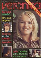 VERONICA 1975 nr. 28  - JACQUES BREL / MARTINE BIJL / LUCIFER / HARPO