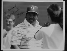 AUTOGRAPHED  PHOTO B&W> AMERICAN FOOTBALL HEAD COACH> DENNIS GREEN
