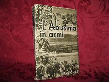 Libro Illustrato 1935 L'Abissinia in Armi Fotografie e Cartina Arnaldo Cipolla
