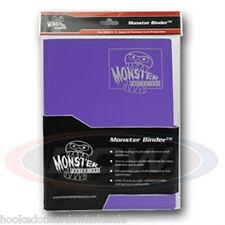 Monster Album Binder 9 Pocket Matte Purple With 20 Sideloading Pages