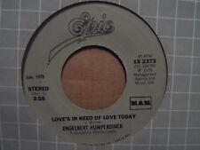 "Engelbert Humperdinck - After The Lovin' / Love's In Need of Today 7"" 45 VG+"