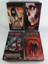 80s HORROR VHS Tape Lot EVIL DEAD 1 2 ARMY OF DARKNESS SOULKEEPER Sam Raimi