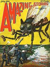ART PRINT POSTER FUMETTI COVER storie sorprendenti Wells Verne GIGANTE FLY nofl0580