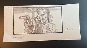 MIKE PLOOG original storyboard YOUNG SHERLOCK HOLMES 1985 GREAT SHOT OF HOLMES!