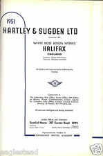 Equipment Catalog - Hartley & Sugden Halifax White Rose Boiler Steam 1951 (E2443