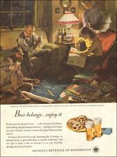 1945 WW 2 Era Ad US BREWERS FOUNDATION  ART Haddon Sundblom #13 Home Life 092017