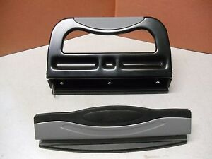 2 Staples Heavy Duty 3 hole Punch, 30 sheets and 6 sheets Capacity