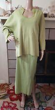 Giorgio Fiorelli Collection 2 PC Women's Plus Size 26W 28W Green Linen Skirt Top