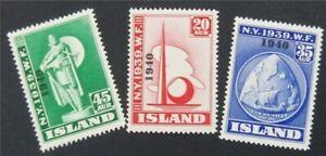 nystamps Iceland Stamp # 232-234 Mint OG H/NH    S17x500