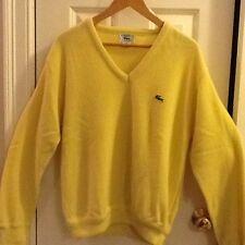 Izod Lacoste Yellow Sweater Vintage Men's Medium
