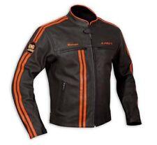 A-pro Giacca in Pelle da Uomo Biker per Motocicletta Protezioni Certificat...