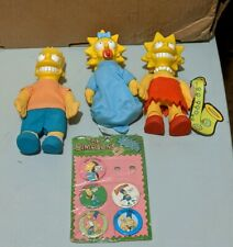 The Simpsons Vintage 1990 Burger King Plush Dolls & Pinback Buttons