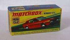 Repro Box Matchbox Superfast Nr.62 Renault 17 TL